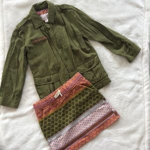 NWOT Utility Jacket and skirt set - Girls 4/5